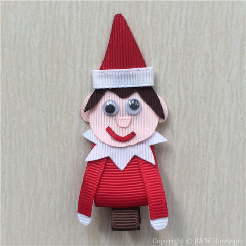 Elf on the Shelf Sculptured Hair Clip