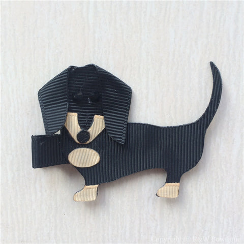 Dachshund #C Sculptured Hair Clip