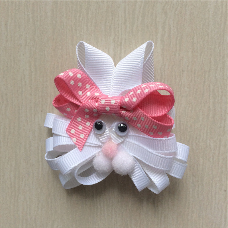 Easter Bunny #G Sculptured Hair Clip