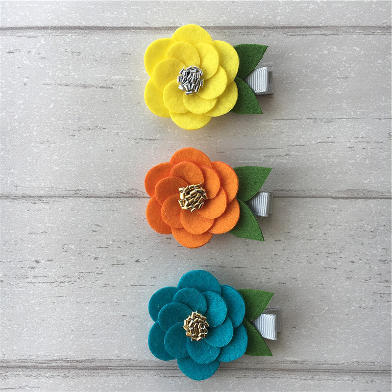 Felt Hibiscus Clip Set of 3 - Active Mix