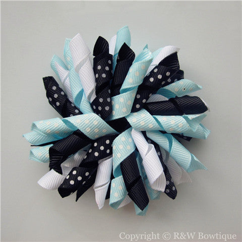 Polka Dot Puffy Korker Hair Bow