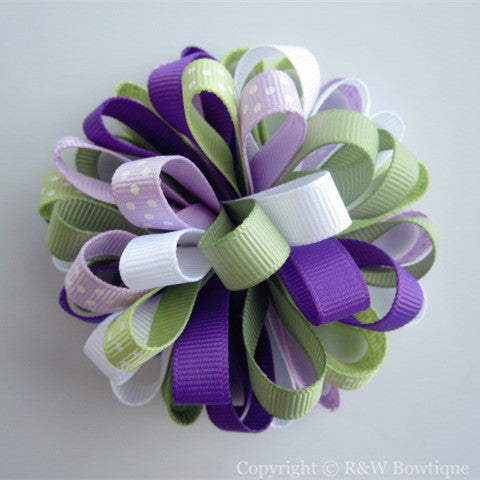 Pretty Pansies Loopy Hair Bow