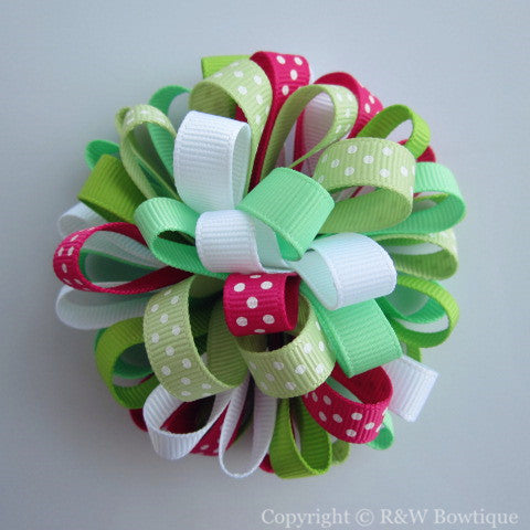 Pretty Turtle Loopy Hair Bow