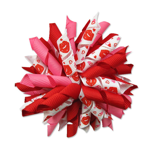 Red Lip Korker Hair Bow