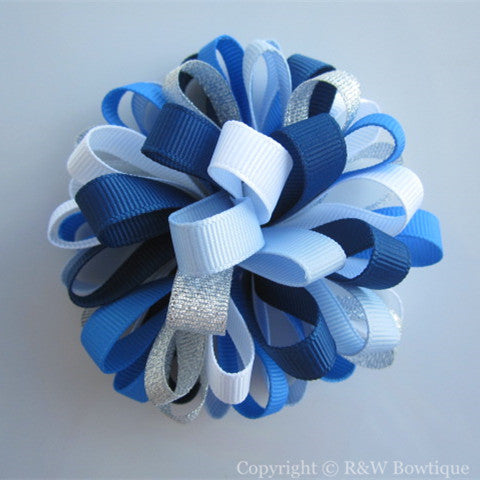 Santorini Sweetie #A Loopy Hair Bow