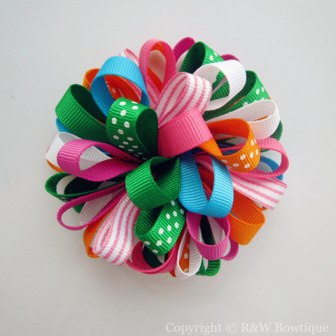 Summer Loopy Hair Bow