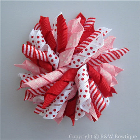 Sweet Valentine Korker Hair Bow