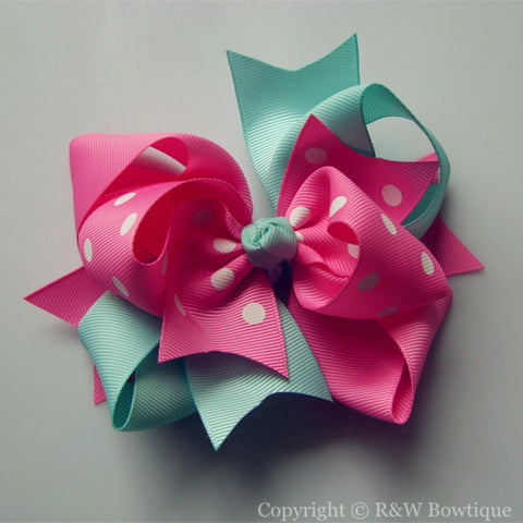 TB004 Large Twisted Boutique Bow