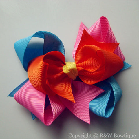 TB006 Large Twisted Boutique Bow