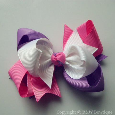 TB011 Large Twisted Boutique Hair Bow
