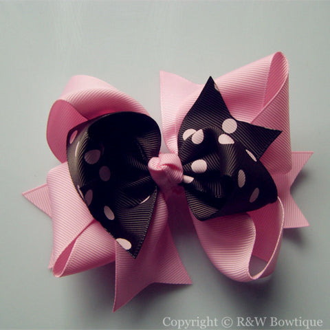 R&W TB012 Large Twisted Boutique Hair Bow