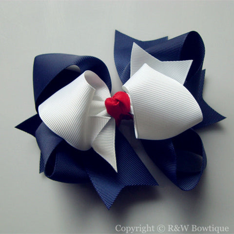 TB013 Large Twisted Boutique Hair Bow
