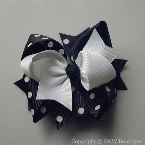 TB015 Large Twisted Boutique Hair Bow