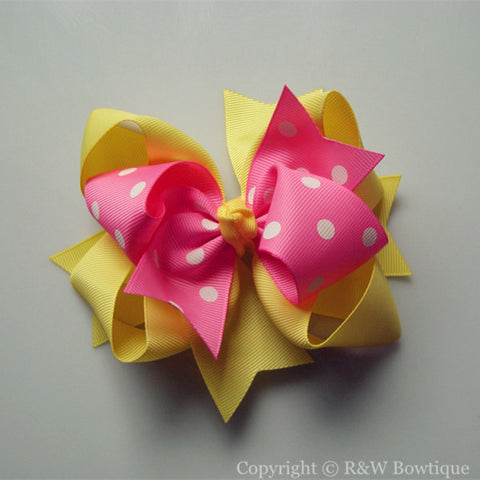 TB016 Large Twisted Boutique Hair Bow