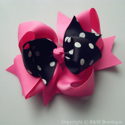 TB017 Large Twisted Boutique Hair Bow