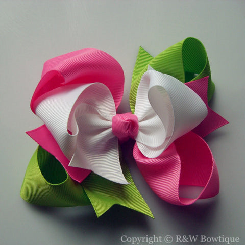 TB018 Large Twisted Boutique Hair Bow