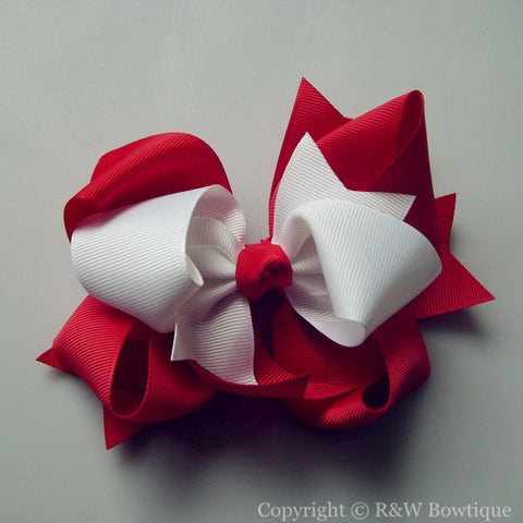 TB019 Large Twisted Boutique Hair Bow