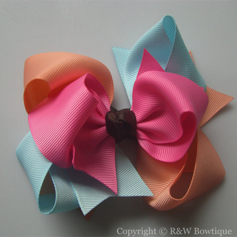 TB020 Large Twisted Boutique Hair Bow