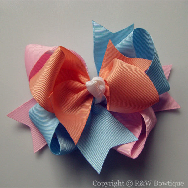 TB022 Large Twisted Boutique Hair Bow