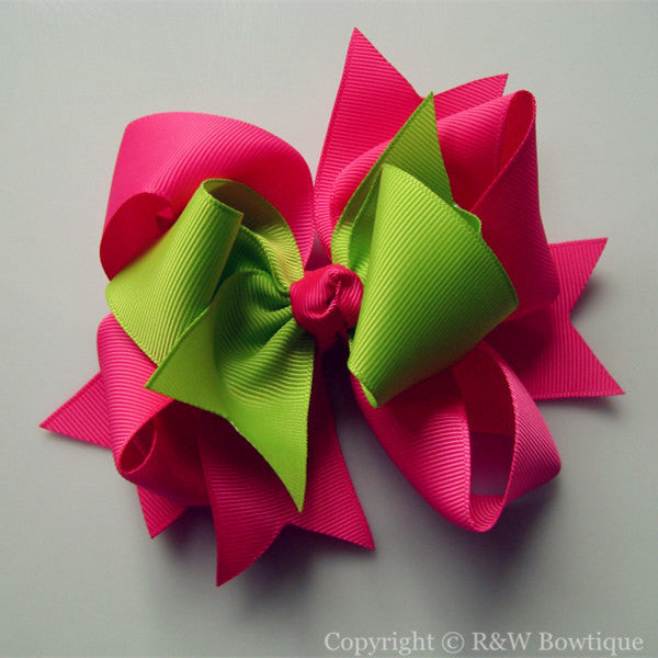 TB024 Large Twisted Boutique Hair Bow
