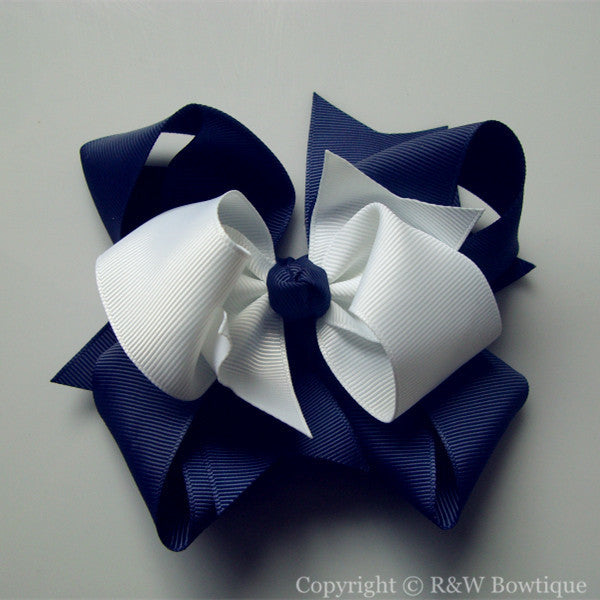 TB026 Large Twisted Boutique Hair Bow