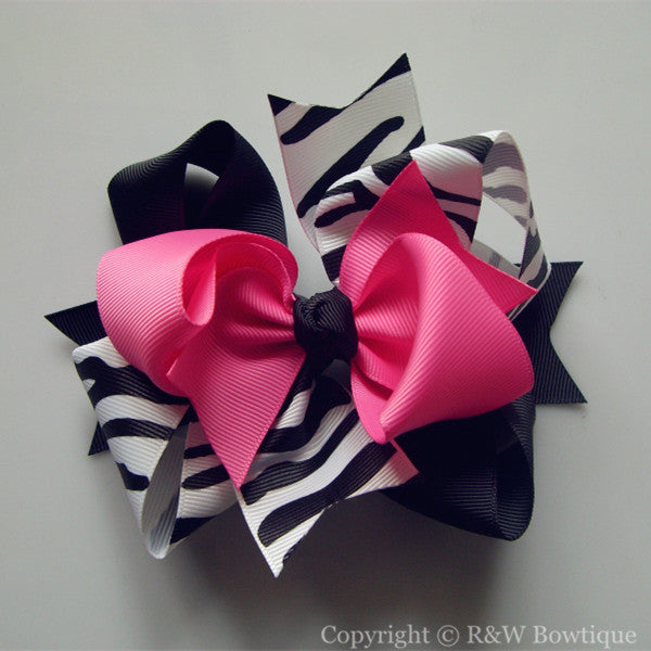 TB027 Large Twisted Boutique Hair Bow