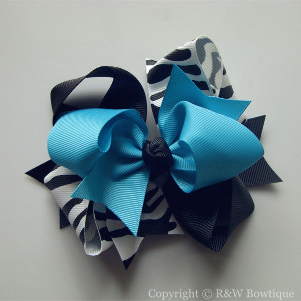 TB030  Large Twisted Boutique Hair Bow