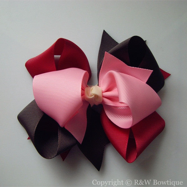 TB040 Large Twisted Boutique Hair Bow