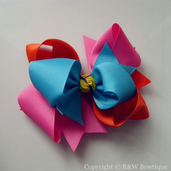 TB041 Large Twisted Boutique Hair Bow