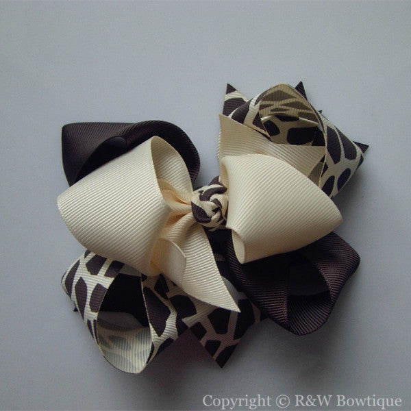 TB053 Large Twisted Boutique Hair Bow