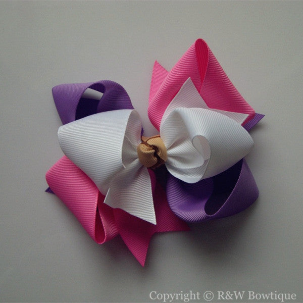 TB065 Large Twisted Boutique Hair Bow