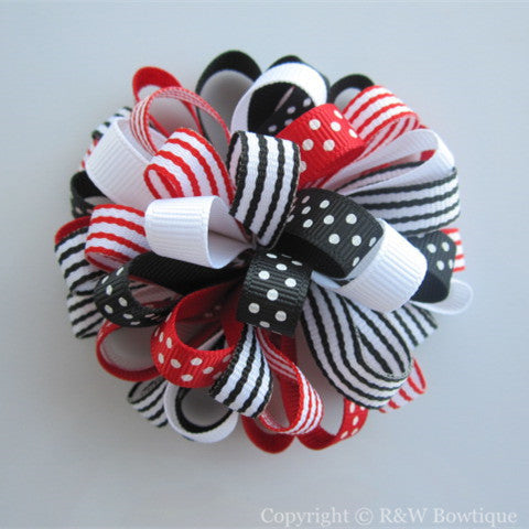 Valentines Day Loopy Hair Bow