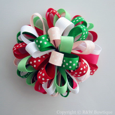 Watermelon Summer Loopy Hair Bow