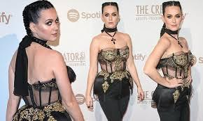 Katy Perry's Corset Pops at pre-Grammy Party