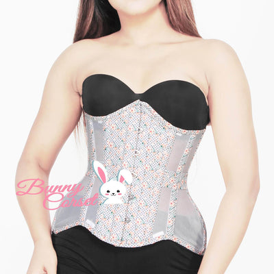 Alyna Printed Faux Leather with Mesh Curvy Corset
