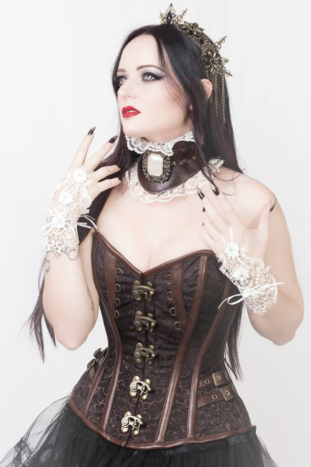 Overbust Corset, Corset with Clasp Opening