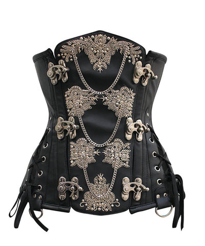 Heidi Steampunk Underbust Embroidered Corset