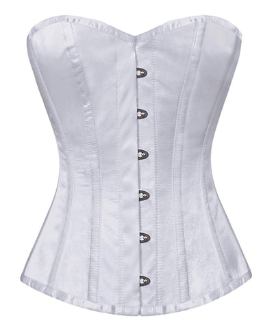 Deedee Steel Boned Overbust White Corset