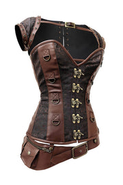 Lazare Custom Made Steampunk Overbust Corset with Detachable Belt
