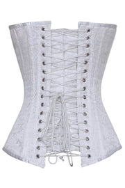 Ida Custom Made White Brocade Gothic Corset