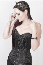 Haady Custom Made Black Brocade Corset Overbust