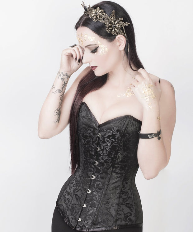 SOLD OUT - Black Brocade  Overbust Corset