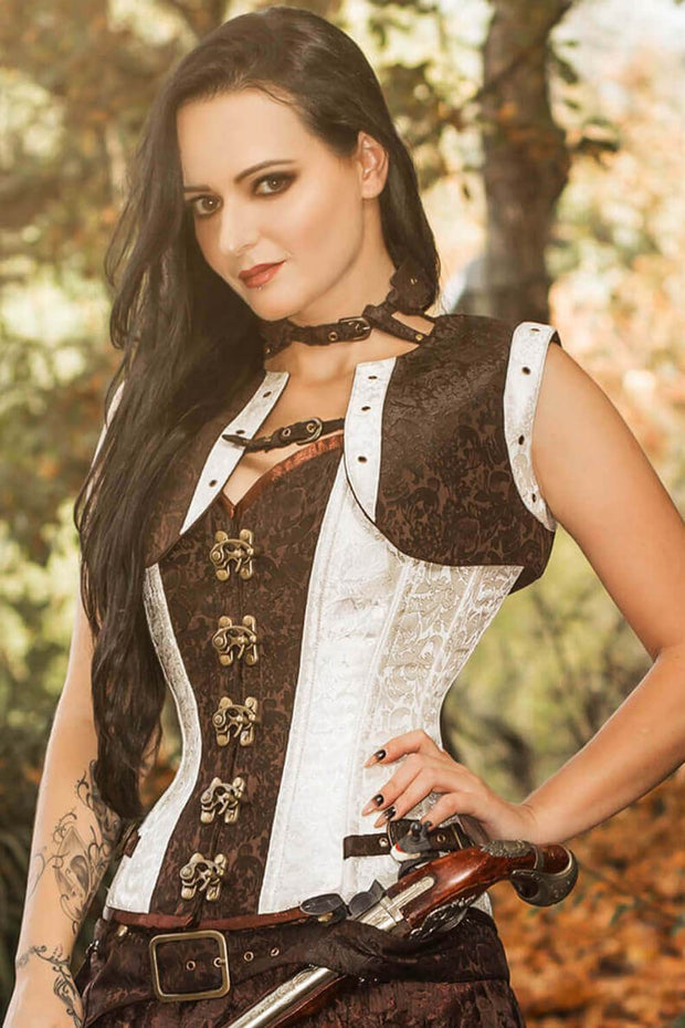 Bertram Custom Made Steampunk Overbust Corset with Shrug