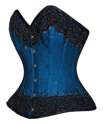 Rikke Overbust Lace Overlay Couture Corset