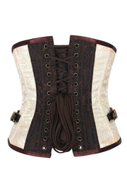 Underbust Corset, Steampunk Corset, Corset with Clasp Opening