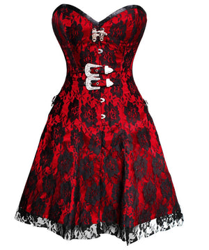 Mirabel Gothic Lace Overlay Corset Dress