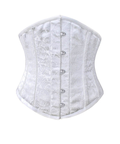 Corset Deal Wido Gothic Underbust White Brocade Corset - VG LONDON LTD Corsets and Bustiers Shop