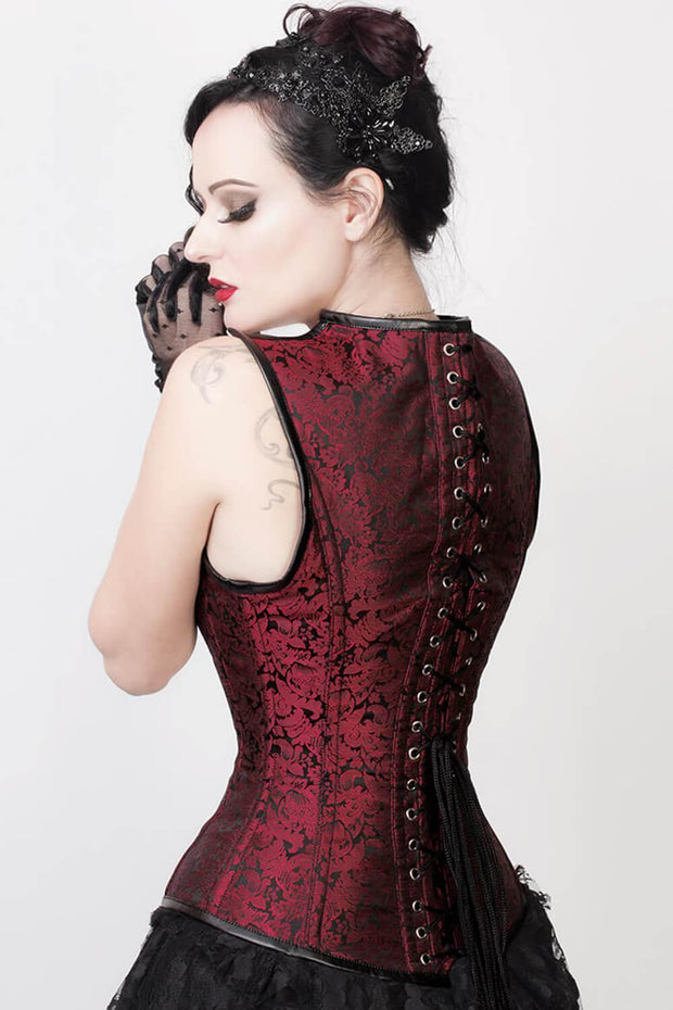 Ariana Custom Made Gothic Steel Boned Corset with Shoulder Straps