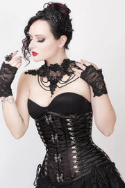 Emma Custom Made Criss Cross Underbust Gothic Corset