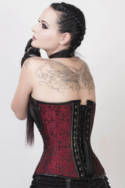 Earnest Gothic Overbust Corset with Neck Gear